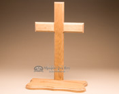 Amish Handcrafted Oak Cross