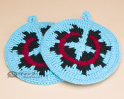 Navajo Pot Holder or Trivet Set