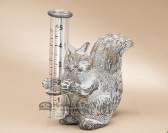 Rustic Squirrel Cast Iron Rain Catcher