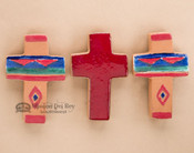 Saltillo Tile Cross Magnet Set of 3