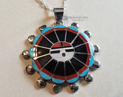 Zuni Pendant Hopi Sun and Silver Necklace Set
