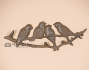 Rustic Iron Lodge Hook Rack - Songbird