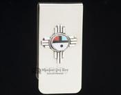 Zuni Indian Southwest Money Clip - Small Sunface