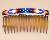 Navajo Beaded Hair Comb - Brown