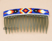 Navajo Beaded Hair Comb - Green
