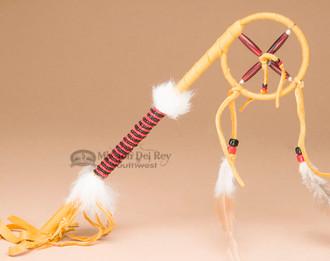Native American Navajo Medicine Wheel Talking Stick