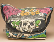 Southwestern Style Cotton Purse -Day Of The Dead Katrina