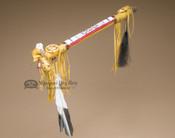 Native American Pueblo Antler Peace Pipe