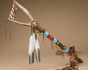 Tigua Indian Beaded Dance Stick