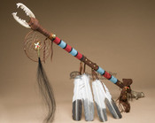 Native American Tigua Medicine Stick - Circle of Life