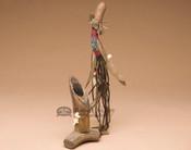 Navajo Beaded Standing Antler Pipe
