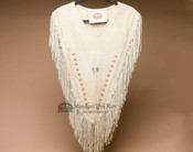 Hair Pipe Beaded Leather Dance Shirt