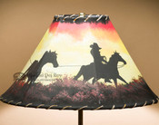 "Southwest Painted Lamp Shade 16"" -Trail Hand"