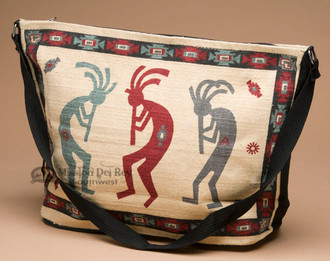 Southwest Woven Cotton Purse -Colorful Kokopellis