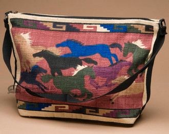 Western Style Cotton Purse -Running Horses
