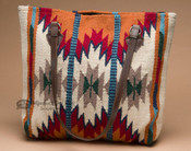 Southwestern Wool Rug Purse -White