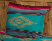 Southwestern Pillow Sham -Saltillo Turquoise