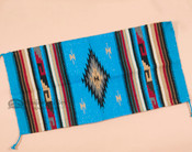 Traditional Zapotec Style Fiesta Area Rug 20x40 -Blue