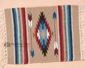 Southwest Wool Handwoven Chimayo Place Mat 15x20 -Tan