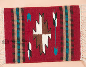 Handwoven Wool Placemat 15x22 -Chimayo Red