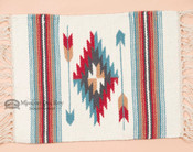 Handwoven Chimayo Place Mat 15x20 -turquoise arrows