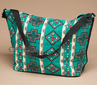 Southwest Native Design Purse -Turquoise Cross