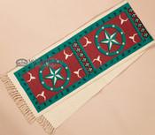 Southwestern Textured Table Runner 13x72 -Turquoise Star