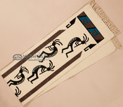 Textured Southwestern Table Runner 13x72 -Kokopelli