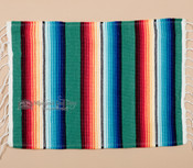 Southwestern Mexican Serape Placemat -Teal