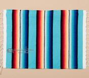 Southwestern Mexican Serape Placemat -Lt. Blue