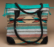 Southwestern Woven Rug Tote Bag 17x17 (mont-L)