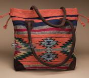 Southwestern Rug Tote Bag 17x17 (mont-a)