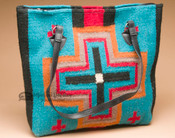 Southwestern Wool Rug Purse -Cross