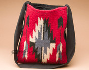 Southwest Woven Wool Tote -Red
