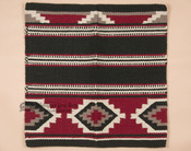 Classic Wool Saddle Blanket -Red & Black