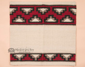 Western Wool Saddle Blanket -Beige & Red