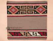 Western Wool Saddle Blanket -Grey & Red