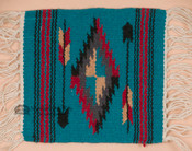 Handwoven Wool Placemat - Turquoise