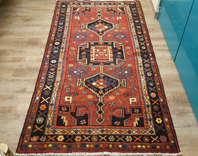 Hand Knotted Tribal Persian Wool Area Rug 51 X99 Pers2 Mission