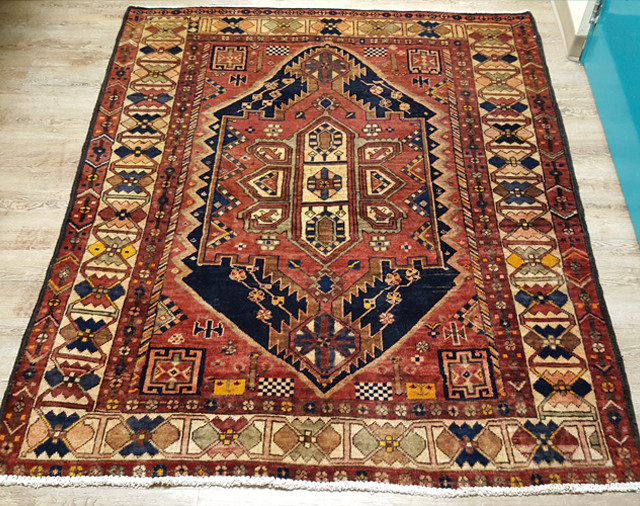 Hand Knotted Persian Wool Area Rug 62 X73 Pers3 Mission Del Rey