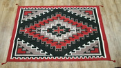 Large Handwoven Wool Southwestern Area Rug