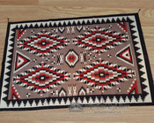 Large Handwoven Wool Southwestern Area Rug  6x9