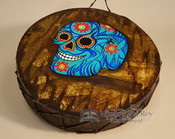 Painted Drum -Day of the dead Skull
