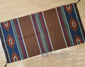 8 lb. Handwoven Wool Saddle Blanket -Brown