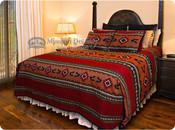 Southwestern Tapestry Bedspread & Shams -Zuni Style