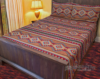 Southwest Tapestry Bed Spread Set  Luna Queen