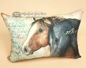 Soft Designer Ranch Pillow -Horses