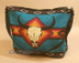 Blue Southwestern Purse With Steer Skull Design