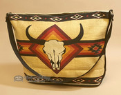 Tan Southwestern Purse With Steer Skull Design