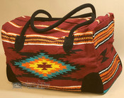 Native Southwestern Weekender Rug Bag - Cranberry